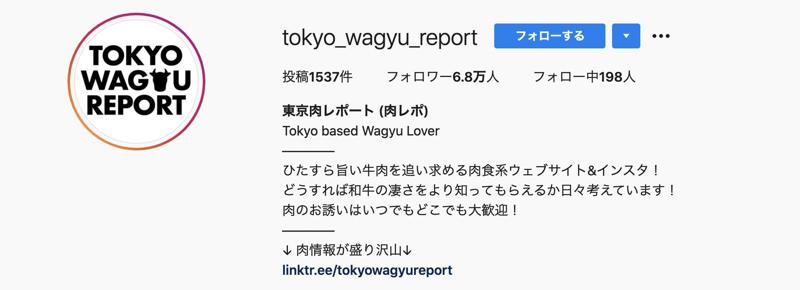 人気インスタグラマー東京肉レポートさん